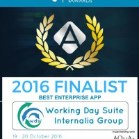 Working Day Suite of Internalia Group, Shortlisted in the APPSTERS AWARDS, on the TOP BEST 4 APPS FOR ENTERPRISE IN EUROPE